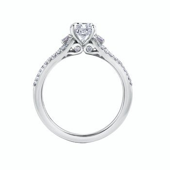 Cushion Cut & Round Brilliant Engagement Ring