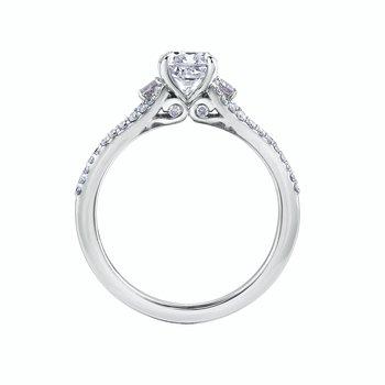 Cushion Cut & Round Brilliant Engagement Ring