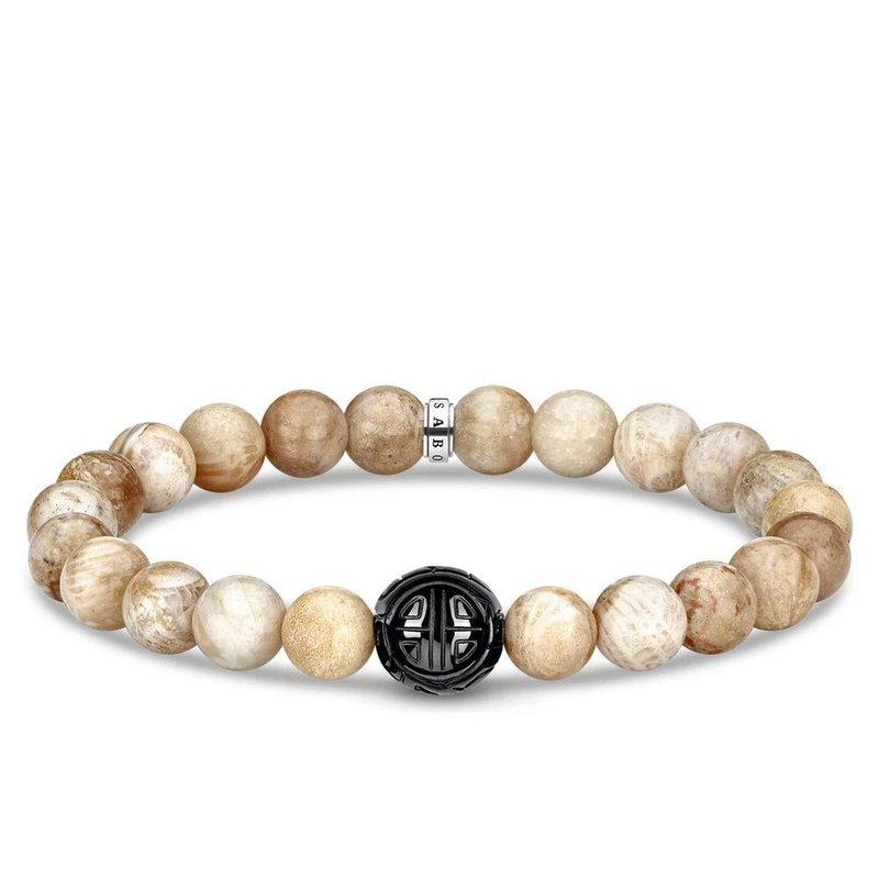 Thomas Sabo Mens Bracelet of Jasper Beads 19cm A1944-353-16-L18