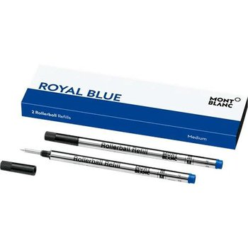Montblanc Rollerball Refill Royal Blue MEDIUM 2 pieces 128233