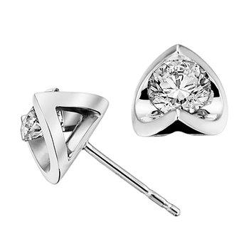 Half-Moon Diamond Stud Earrings