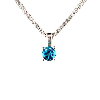 Blue Topaz Necklace