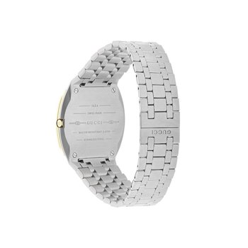 GUCCI 'GUCCI 25H' STEEL AND 18K GOLD PLATED  WATCH YA163405