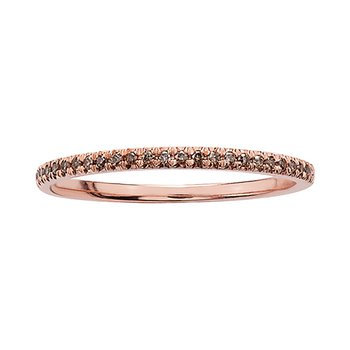 Ladies Stackable Brown Diamond Band