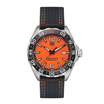 Formula 1 Limited Edition 4000 pieces quartz orange dial black nylon strap 43 mm REF. WAZ101AFC8305