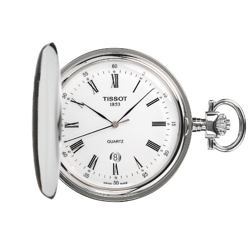 Tissot Savonnette Pocket Watch Silver Case