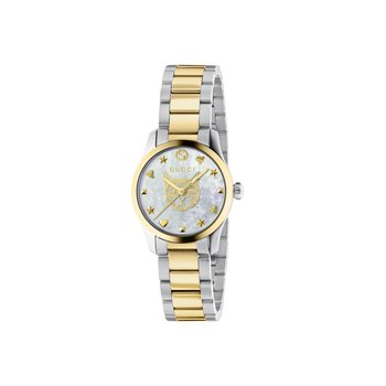 G-Timeless Feline Head Two-Tone stainless steel Bracelet Watch