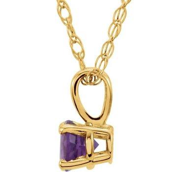 Children's Necklace - February  Birthstone