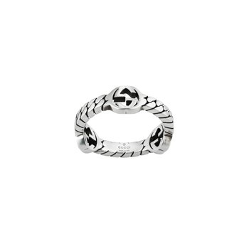 Interlocking G Sterling Silver 3.5mm XS Ring YBC661523001Size 6 (12)