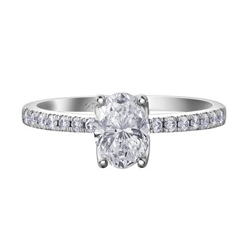 2.01ct. Oval Cut Engagement Ring.