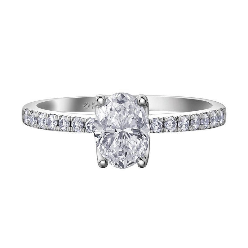 Ashley 2.01ct. Oval Cut Engagement Ring.