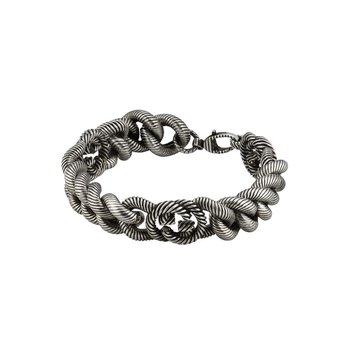 Silver bracelet with Interlocking G