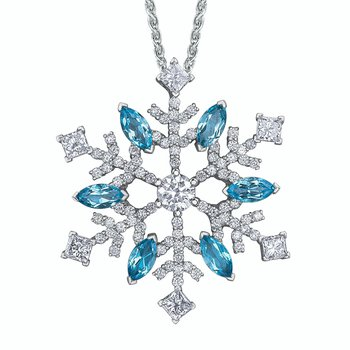 """Shelly Purdy """"It's Snowing"""" Necklace from the Seasons Collection"""