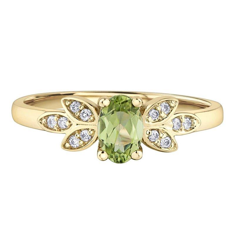Ashley Ladies Peridot and Diamond Ring