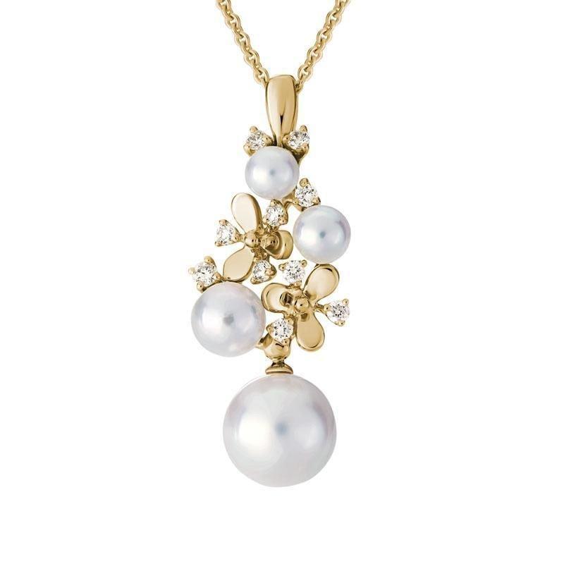 Ashley Pearl & Diamond Necklace