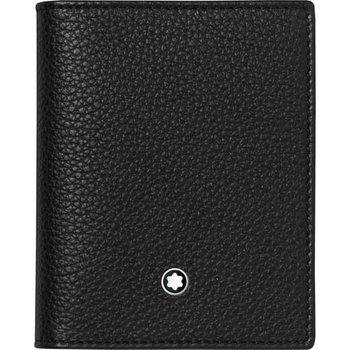 Montblanc Black Meisterstück Soft Grain Business Card Holder with View Pocket