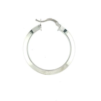 Knife Edge Hoop Earrings