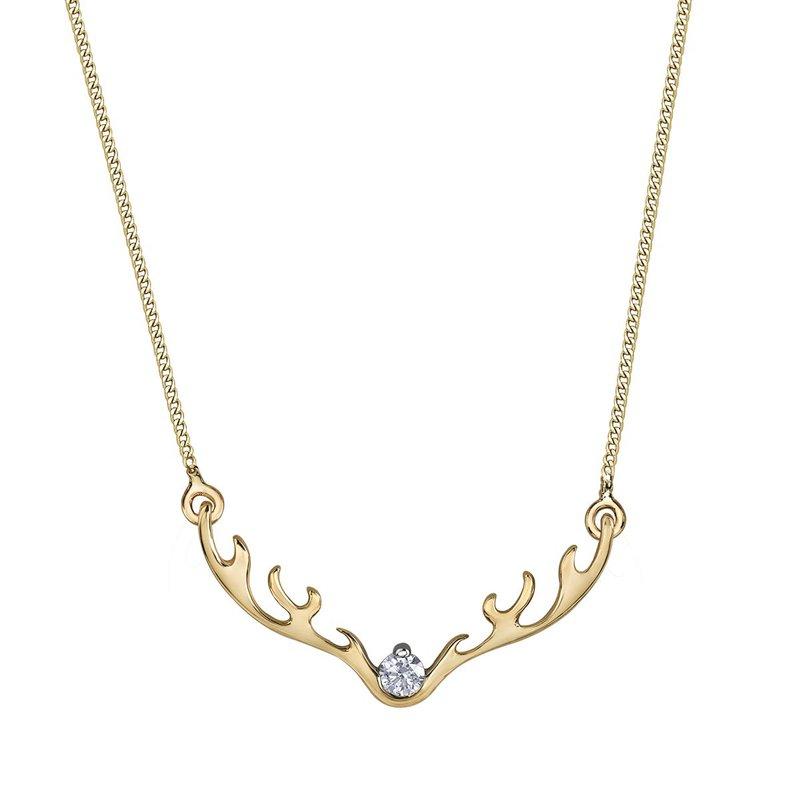 I Am Canadian Diamond Necklace