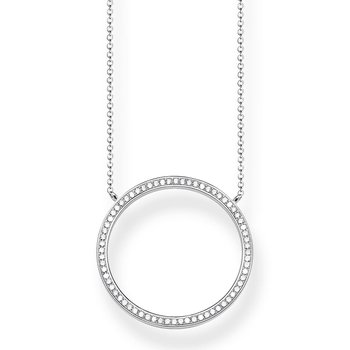Large Zirconia Circle Necklace