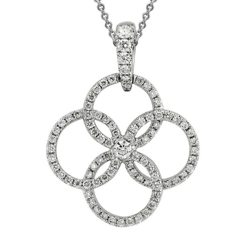 Ashley Multi Circle Diamond Necklace