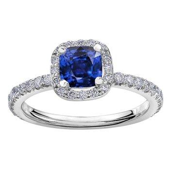 Ladies Sapphire & Diamond Ring