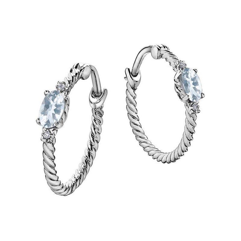 Ashley Aquamarine Hoop Earrings
