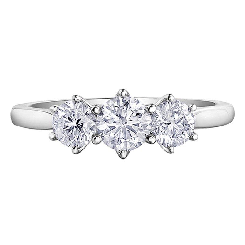 Ashley Three Stone Diamond Ring