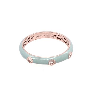 Baby Blue Enamel Ring