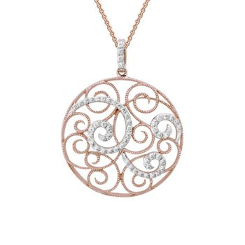 Circle Motif Diamond Necklace