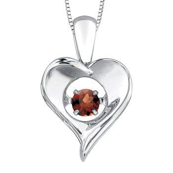 Garnet Pulse Necklace