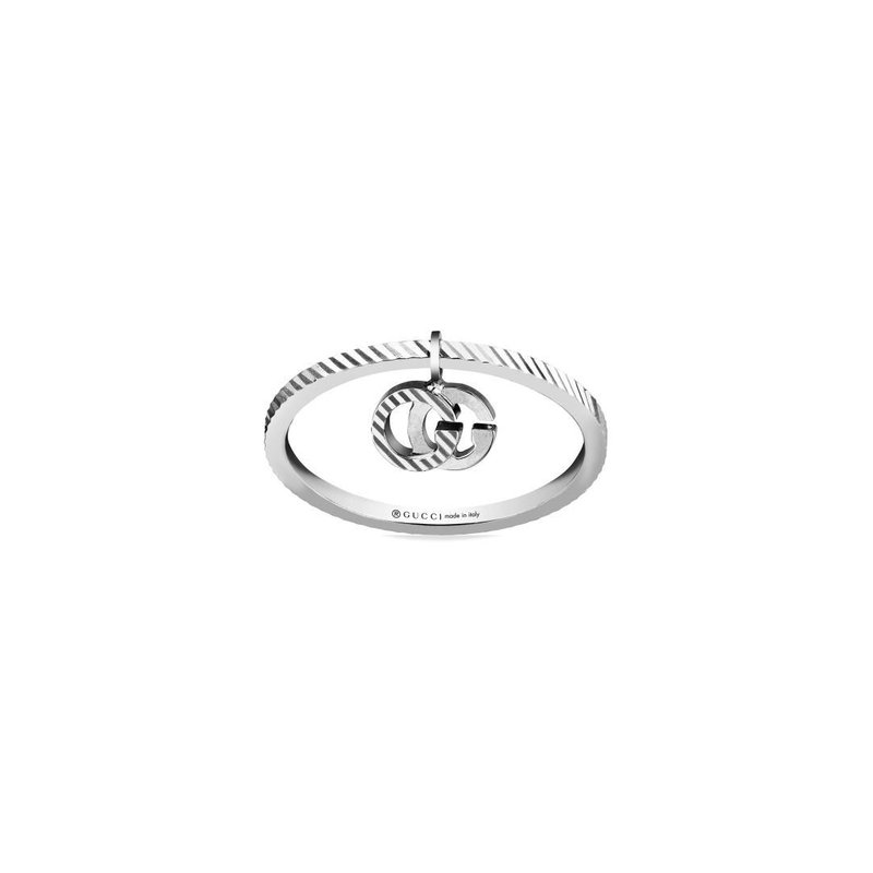 Gucci GG Running White Gold 18k Ring YBC648599001