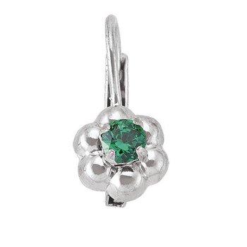 Child's Green Stone Earrings