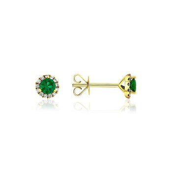 Emerald & Diamond Earrings.