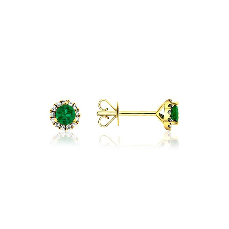 Ashley Emerald & Diamond Earrings.