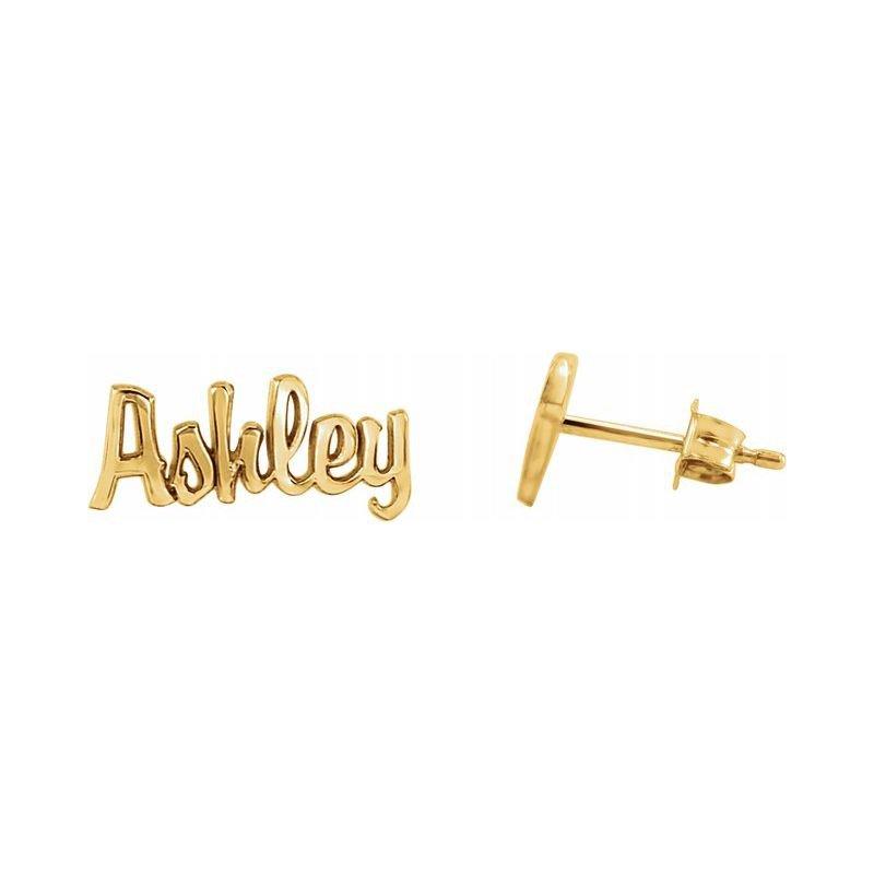 Ashley Name Plate Earrings