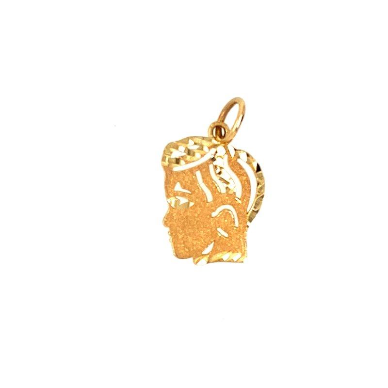 Ashley Yellow Gold Boys Head Charm