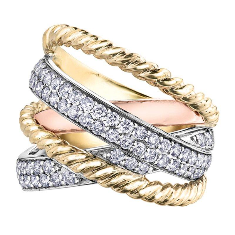 Ashley Diamond Tri-Colour Ring