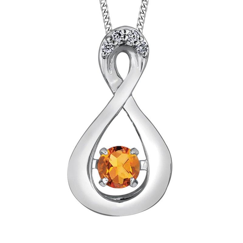 Ashley Citrine & Diamond Necklace