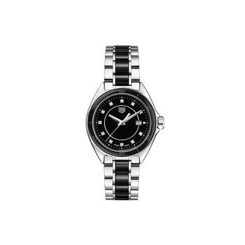 Formula 1 - 32mm black diamond dial, steel & black ceramic bracelet