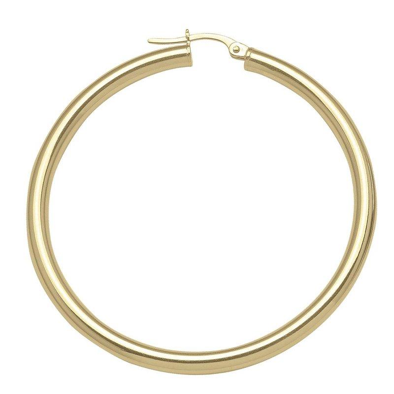Ashley Yellow Gold Hoop Earrings