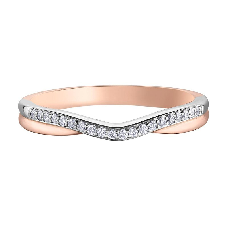 Ashley Ladies Curved Wedding Band