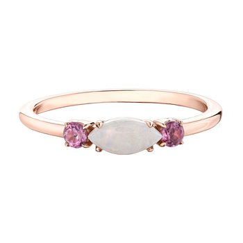Ladies Opal & Pink Tourmaline Ring