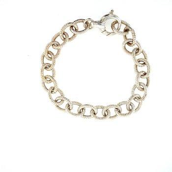 Silver Open Link Bracelet