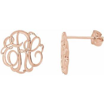 Monograme Earrings