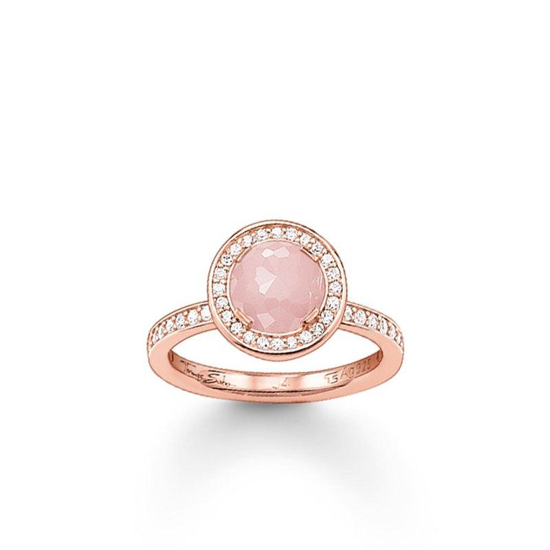 Thomas Sabo Rose Quartz Halo Ring