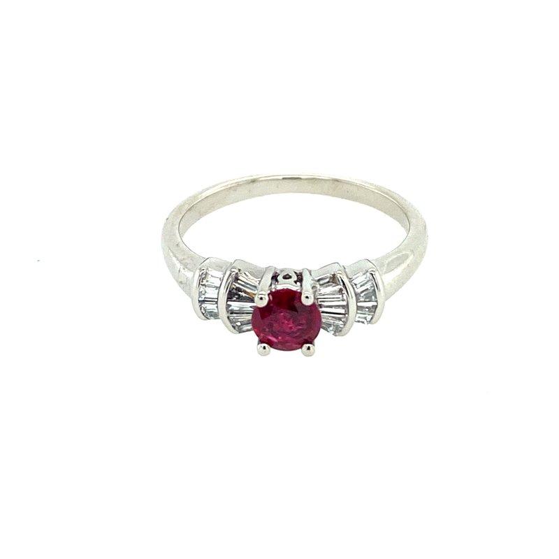 Ashley Fine Ruby & Diamond Ring