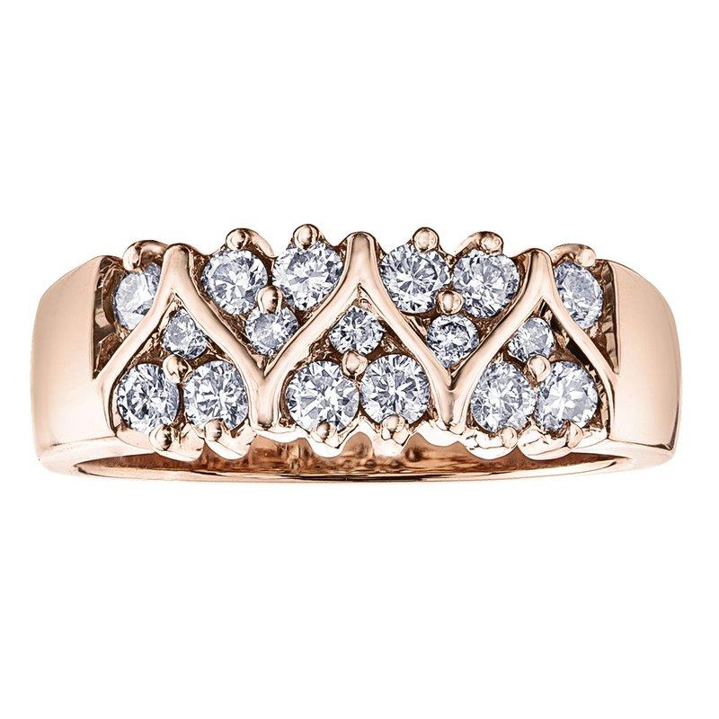 Ashley Rose Gold Diamond Band