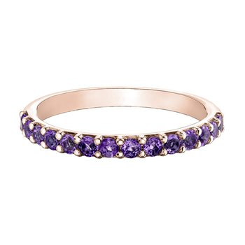 Ladies Stackable Amethyst Band