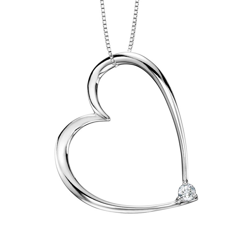 I Am Canadian Ladies Heart Necklace