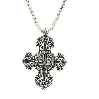 """TRANQUILITY - SILVER CROSS & 22"""" CHAIN P54 S"""